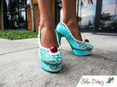 Teal cupcake heels...