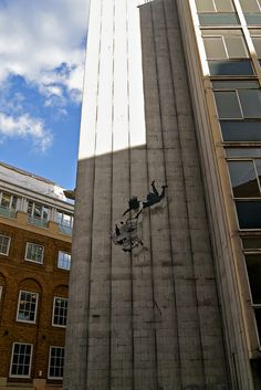 Banksy- looks just like the opening credits for Mad Men