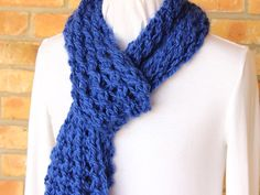 Knitting Pattern Lace Ridge Knit Scarf by KimberleesKorner on Etsy