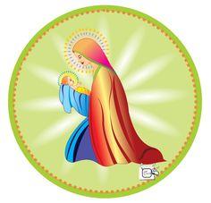 MARIA MÃE DE JESUS Outra visualização da postagem anterior. Desenho - Ilustração - Illustration - Drawing http://arterocha.blogspot.com.br