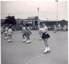 Outdoor rollerskate park 1950s