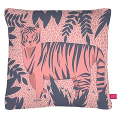 Tiger Kitty Pillow Cover  by Ohh Deer