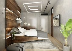 Ložnice v ořechu   AŤÁK DESIGN Sims House, Oversized Mirror, Bed, Room Ideas, Design, Furniture, Home Decor, Travertine, Decoration Home