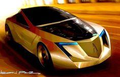 Futuristic Car, The dynamic Acura 2+1 Concept