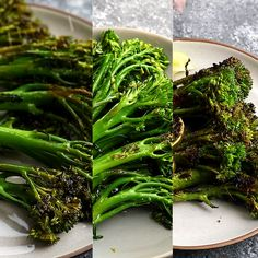 How to cook broccolini- three simple recipes to get a healthy side dish on your table quickly! Roasted broccolini recipe with balsamic vinegar and parmesan, grilled broccolini with chili and lime, and sauteed broccolini with brown butter and almonds. Veggie Side Dishes, Healthy Side Dishes, Vegetable Dishes, Side Dish Recipes, Baby Broccoli Recipe, Broccoli Recipes, Vegetable Recipes, Broccoli Salad, How To Cook Broccolini