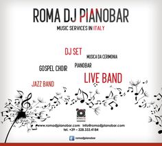 Piano Bar, Jazz Band, Live Band, Wedding Music, Italy Wedding, Choir, Corporate Events, Musica, Greek Chorus