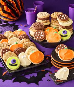 Planning your Halloween party? Be sure to surprise your guests with a big batch of Cheryl's buttercream frosted Halloween cut-out cookies!