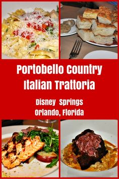 A delicious choice for Italian dining at Disney Springs in Orlando. The focaccia and roasted garlic are epic!