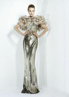 Silver wedding gown. Zuhair Murad - Ready-to-Wear - Fall-winter 2011-2012