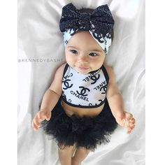 Dying over new designer inspired line Cute Baby Girl Outfits, Cute Outfits For Kids, Cute Baby Clothes, Cute Kids, Cute Babies, Beautiful Children, Beautiful Babies, My Baby Girl, Baby Love