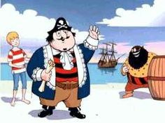 Captain Pugwash - Pugwash Captain of the Black Pig Ship Cut-Throat Jake, captain of the Flying Dustman. 1970s Childhood, My Childhood Memories, Theme Tunes, Kids Tv, Vintage Tv, Classic Cartoons, My Youth, Kids Shows, Classic Tv