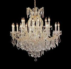 """Maria Theresa Chandelier Crystal Lighting Chandeliers Lights Fixture Pendant Ceiling Lamp For Dining Room, Entryway , Living Room H38"""" X W37"""" - A83-1/21510/15 1"""