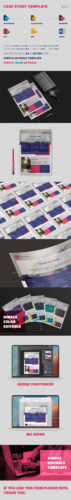Case Study Template | #Flyer - #Newsletters Print #Templates Download here: https://graphicriver.net/item/case-study-template-flyer/19402406?ref=alena994