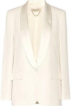 Vanessa Bruno Bangkok satin-trimmed crepe blazer | NET-A-PORTER