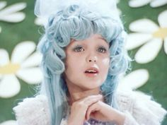 Malvina in The Adventures of Buratino (1975) #russian #doll #film #movie faery tale, fairy tale, blue hair