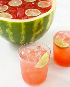Mix Up These Show-Stopping Red, White, and Blue Cocktails - Watermelon Sangria - from InStyle.com