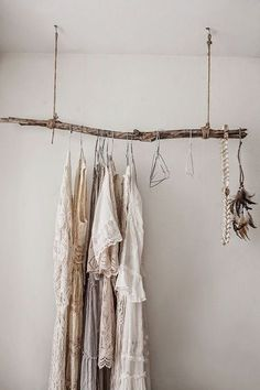 Great idea for a unique wardrobe or to hang other things from!