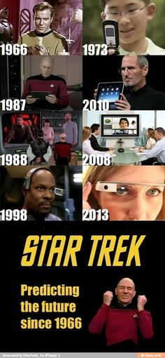 Star Trek! Predicting the future!!