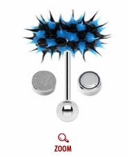 e30a56e4d49ce LIX Vibrating Tongue Ring Barbell - Blue Black Silicone Thrasher (OUT OF  STOCK)
