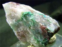 Ajoite is highly prized by mineral collectors for it's intense blue/green coloring  . Ajoite is a rare stone from a mine in South Africa that has become flooded.