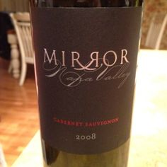 Really enjoyed this 2008 #Mirror #Cabernet with lamb chops and mushroom risotto tonight. #wine #napavalley #mirrorwine