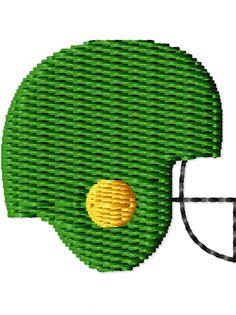 Football Helmet Mini Machine Embroidery Design. $2.00, via Etsy.