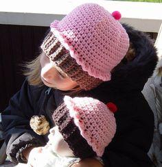 Crochet Baby Girl Cupcake Hat by OhioCrochetLady on Etsy, $18.00