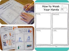 "FREE Printable | ""How to Wash Your Hands"" writing activity plus other fun ""germs"" activities"