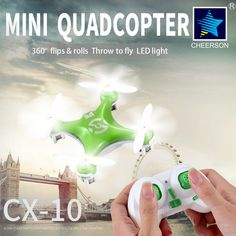 Cheerson RC Drone CX10 CX 10 Mini Drones 2 4GHz 4CH 6 axis Gyro Micro RC. Click visit to buy #RemoteControl #Helicopter