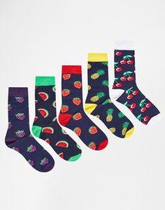 c25c61e5e ASOS Socks 5 Pack With Fruit Design Kids Socks