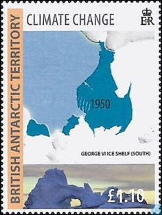 Postage Stamps - British Antarctic Territory - Climate change