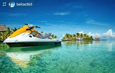 http://OkGoBelize.com #Follow @belize365: Ready for adventure - #Belize #ILoveBelize #Travel #CentralAmerica #Beach #paradise #Caribbean #sea #bucketlist #jetski