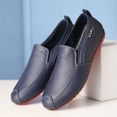 2016 primavera verano moda holgazanes hombres de la alta calidad de Hombre Zapatos planos Zapatos de