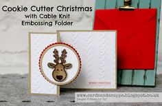 A Cookie Cutter Reindeer with the Cable Knit Folder by Stampin' Up!