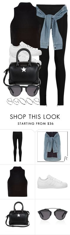 """""""Style #10429"""" by vany-alvarado ❤ liked on Polyvore featuring Hervé Léger, River Island, adidas, Givenchy, Christian Dior and ASOS"""