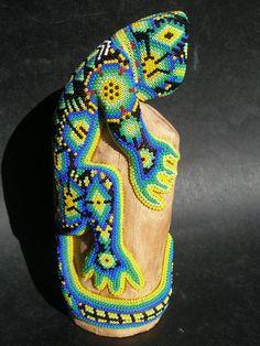 Huichol art, the bead work