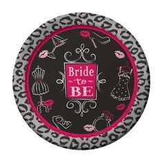 Buy Bridal Bash Paper Plates from Tiger Feet Party. These Bridal Bash paper plates are designed with a black background decorated with lipstick, cocktail Wedding Plates, Party Plates, Dinner Plates, Party Tableware, Low Budget Wedding, Bachelorette Party Supplies, Shower Time, Bridal Shower Party, Bride