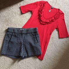 Kenar Shorts - 🎈SOLD🎈BOGO Navy & White Polka Dot Shorts