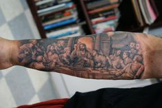 last supper tattoo | last supper | Justin Hendrick Tattoo