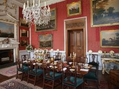 Castle Howard Crimson Dining Room