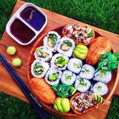 Vegan Sushi Tutorial WITHOUT Sushi Roll Mat (shape variations + sushi rice recipe + filling ideas) | Healthiecook