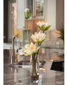 Floral Decor for Home & Office | Flowering Silk Water Lilies from Silkflowers.com