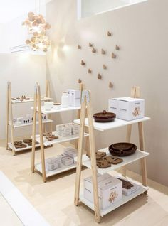 Normann Copenhagen Flagship Store Showroom Wood / For more beauty in your life ♥ Visit www.glueckstueck.com and be a Fan: www.facebook.com/glueckstueck