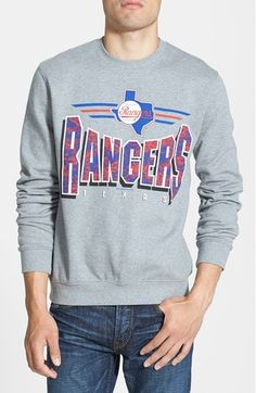 Mitchell & Ness 'Texas Rangers' Crewneck Sweatshirt available at #Nordstrom