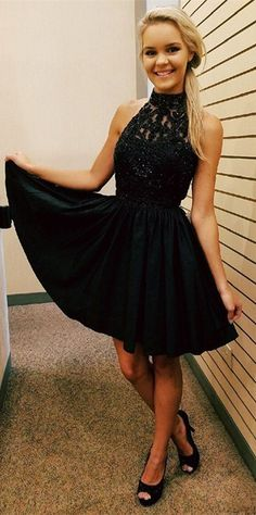short homecoming dresses,black homecoming dresses,beaded homecoming dresses,short prom dresses,prom dresses for teens,@simpledress2480