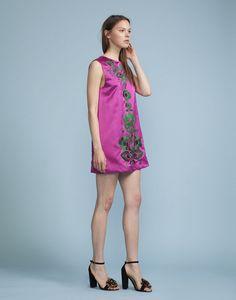 CYNTHIA ROWLEY Duchess Satin Shift Dress. #cynthiarowley #cloth #