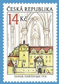 Sello: The Chateau at Horšovský Týn (República Checa) (Beauty of our homeland) Mi:CZ 597,AFA:CZ 599,POF:CZ 598