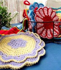 crochet pads and potholders