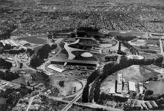 Vista aérea do Parque do Ibirapuera, sem registro de data. (Foto: Werner Haberkorn/Fotolabor)