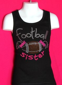 Perfect for those Football games, and a fun way to root on a sibling. The versitile design is made of high quality rhinestones that really